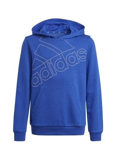 adidas Adidas Erkek Çocuk Mavi-Beyaz KapüşonluSweatshirt Mavi